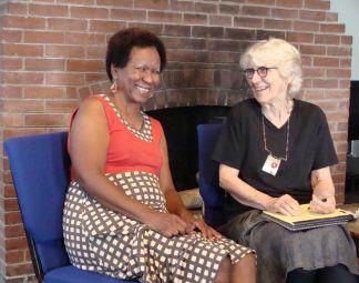 Kate & Pat laugh together